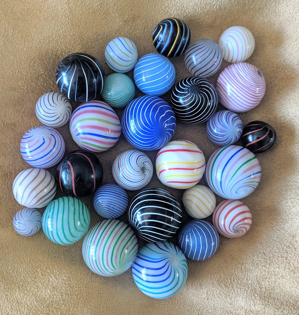 Group of Clambroth marbles