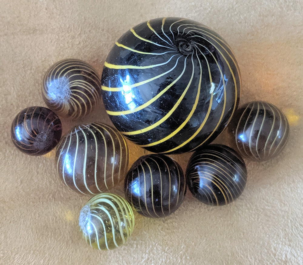 Group of Gooseberry marbles
