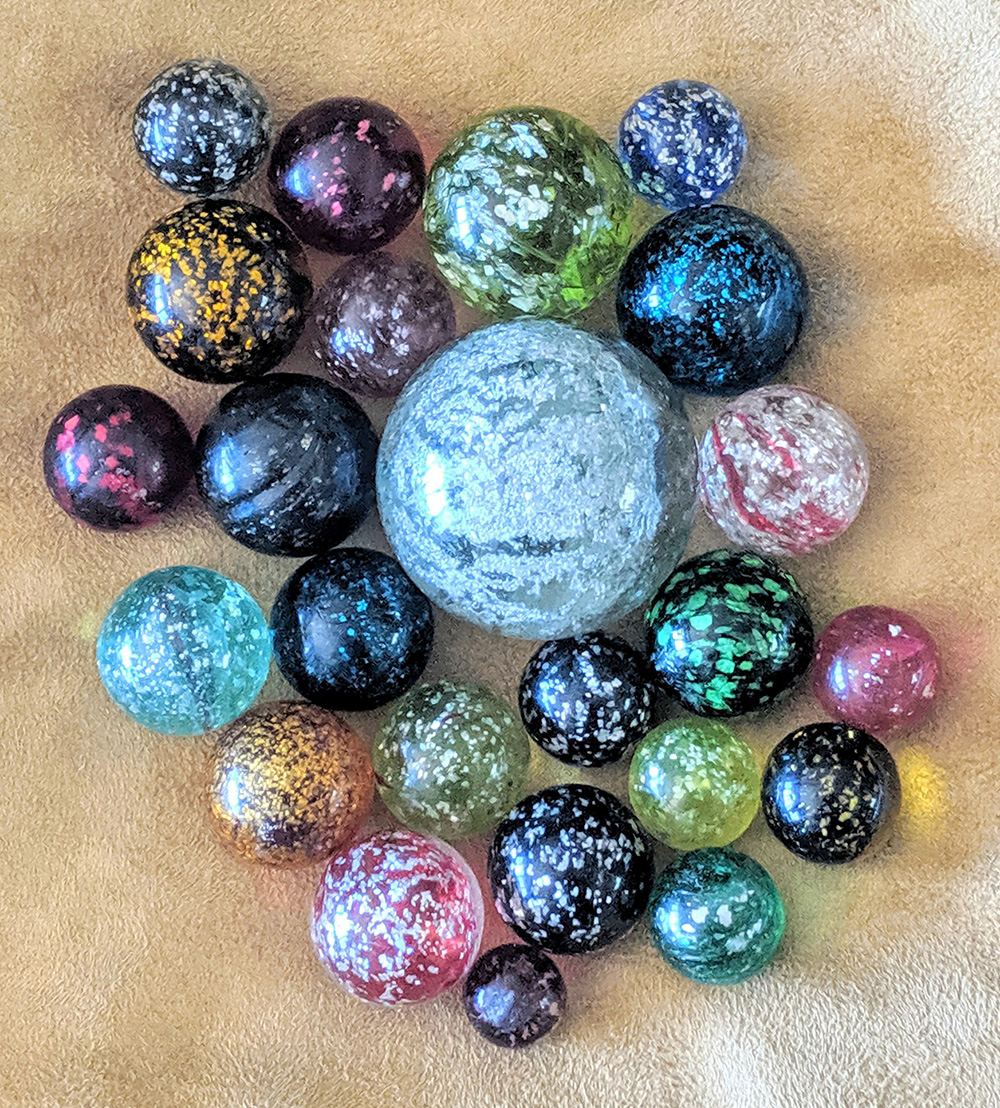 Group of Mica marbles