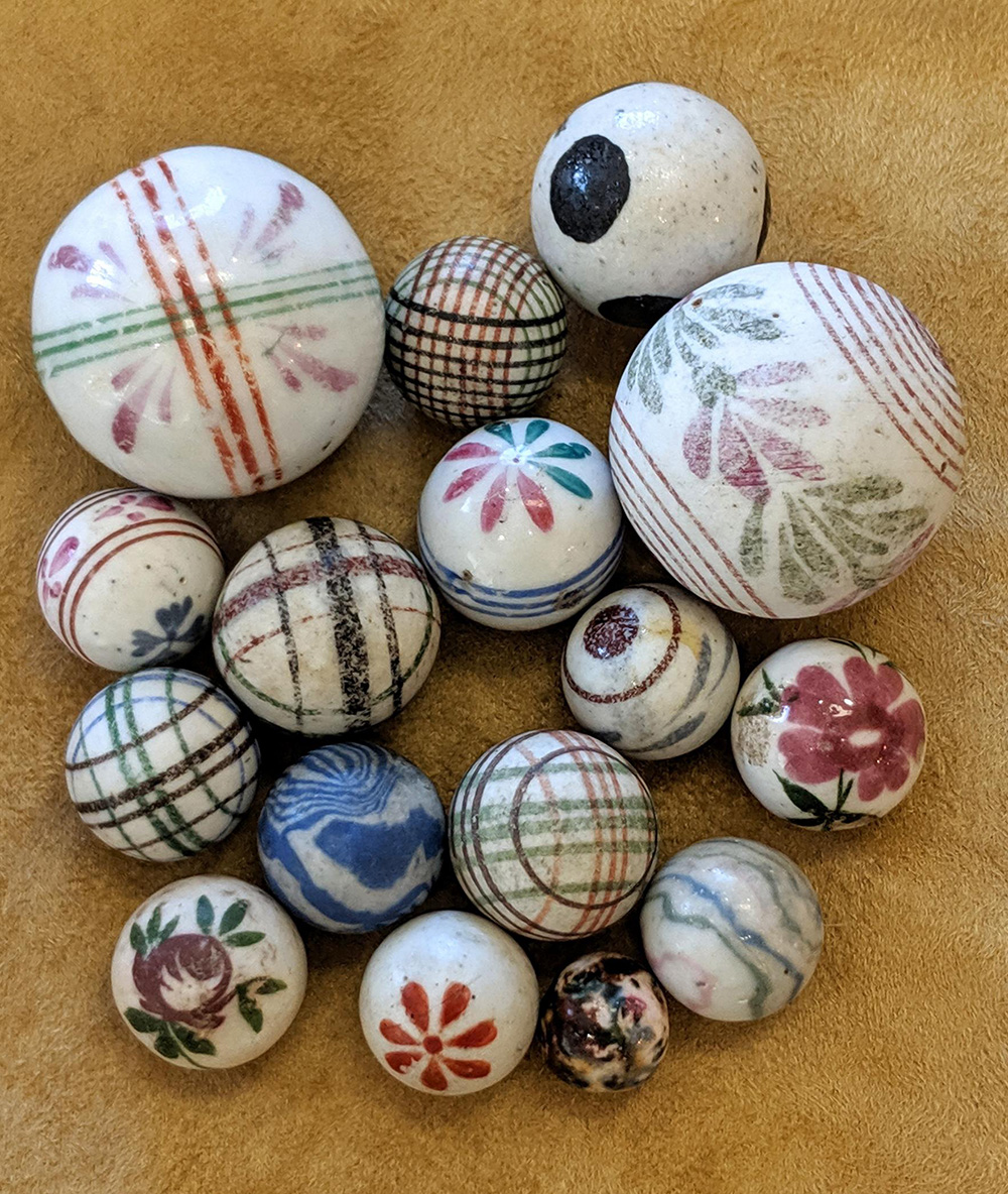 Group of China marbles